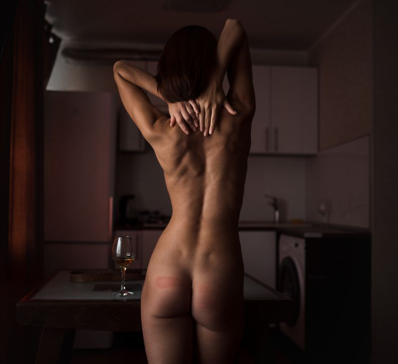 girl, nude, slap, punish, at home,  Punishphoto preview