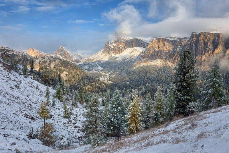 альпы, италия Снежные склоныphoto preview