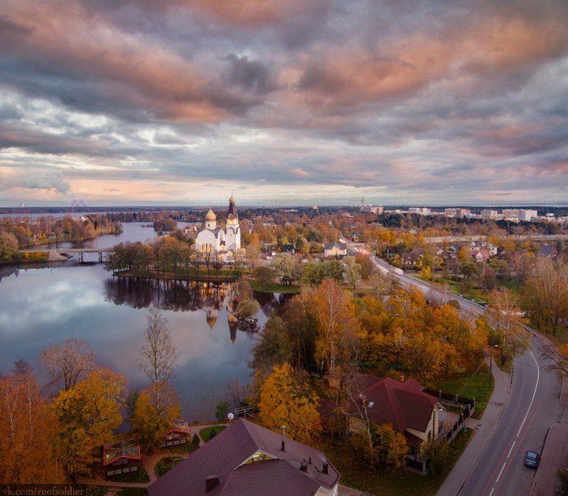 Осень, Сестрорецк, Санкт-Петербург, церковь, небо, пейзаж Сестрорецкphoto preview