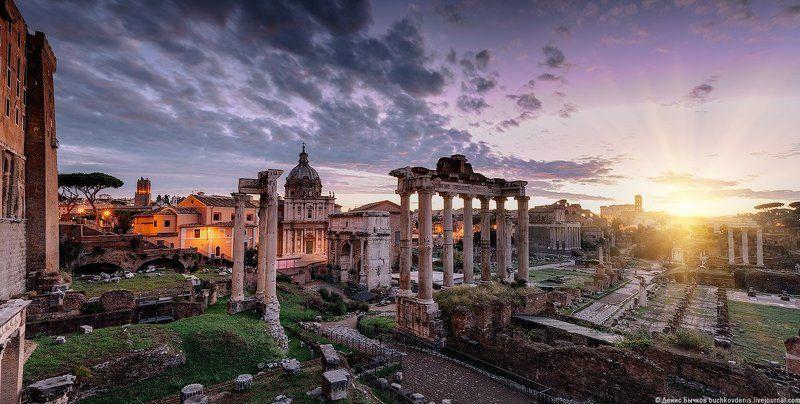 италия, рим,форум, рассвет ***photo preview