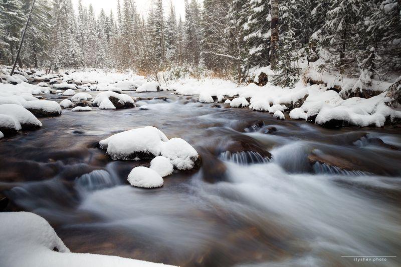река, северный урал, природа, пейзаж, жигалан, россия,  холодphoto preview