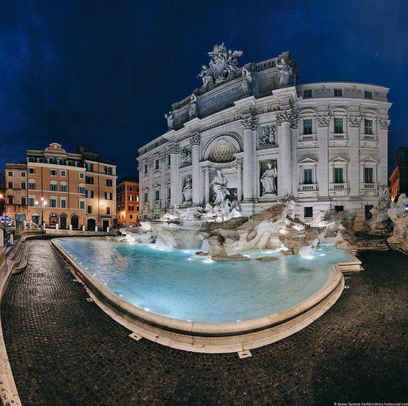 италия, рим, фонтан, треви, панорама ***photo preview