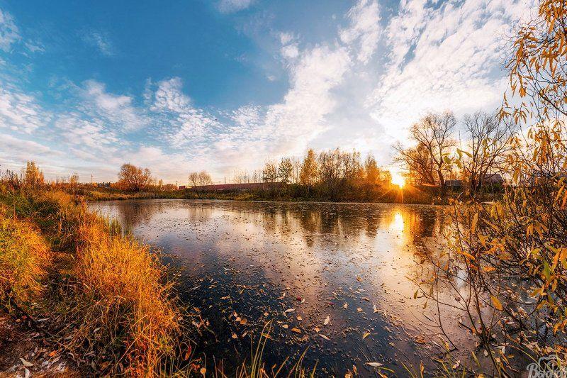 долгопрудный,лёд,осень,хлебниково,павельцево,рассвет, Морозное утроphoto preview