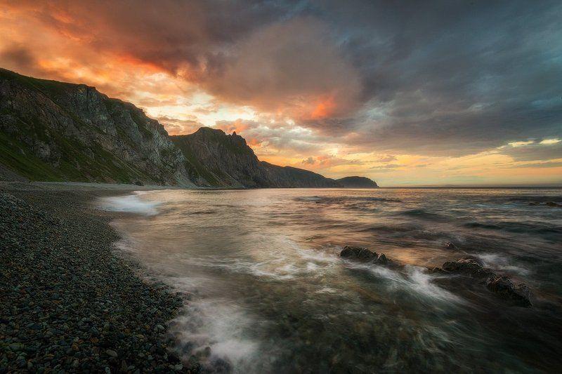 Приморский край заповедник рассвет море солнце Далекое Приморьеphoto preview