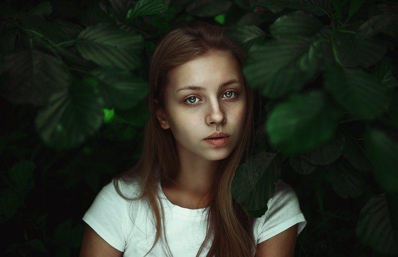 Dodge & Burning, Девушка в лесу, Естественный свет, Лес природа, Портрет в кустах, Портрет в лесу Лесphoto preview