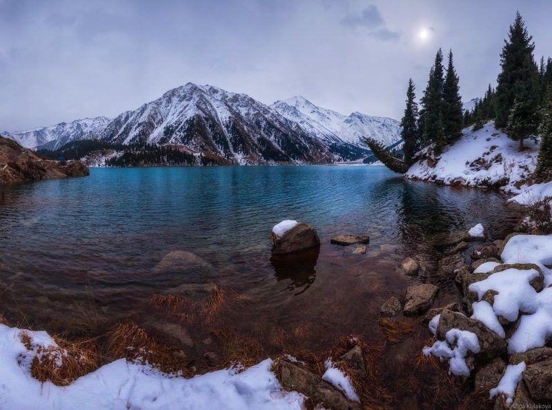 Большое алматинское озеро, Заилийский алатау, Осень, Утро Осень на Большом Алматинском Озереphoto preview