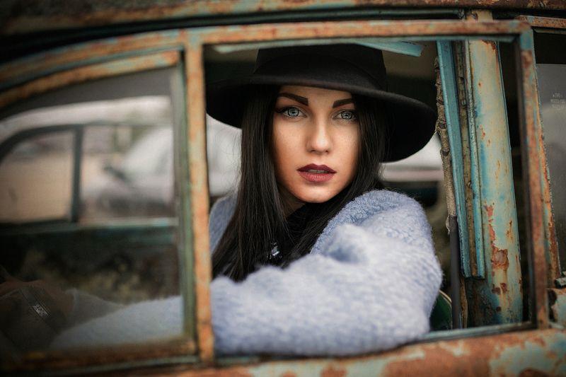 portrait,eyes,hat,car,портрет,модель,свет Dianaphoto preview