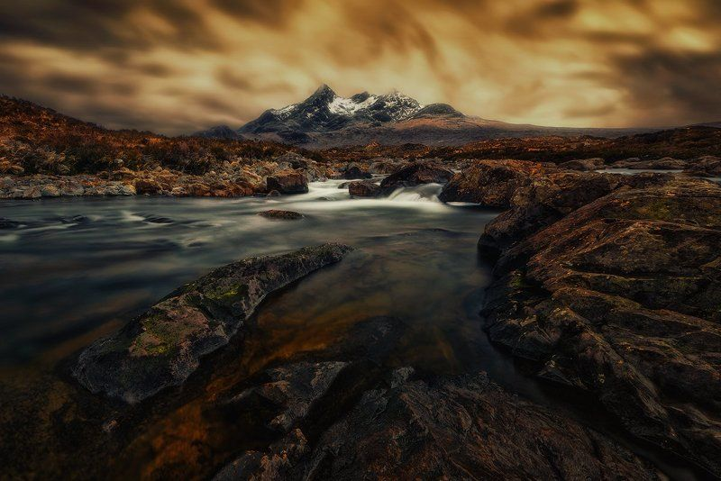 scotland, isle_of_skye, skye, travel, nd, long_exposure, nikon, uk, landscape, fine_art, highland, heliopan, manfrotto, filters, water, colors, rgb, cuillin, hills, mountains, Entrance To Mordorphoto preview
