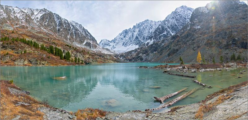 куйгук, алтай Озеро, рыжая и зайцыphoto preview