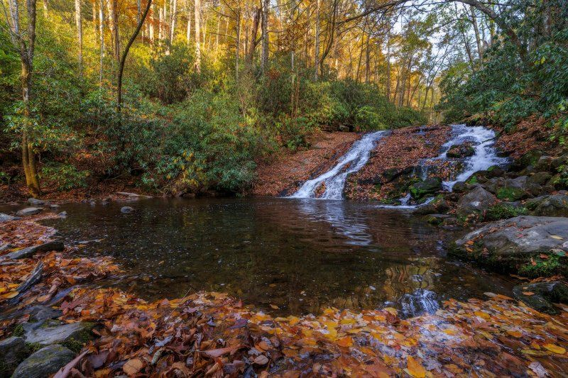 Водопад Indian Creeck fallsphoto preview