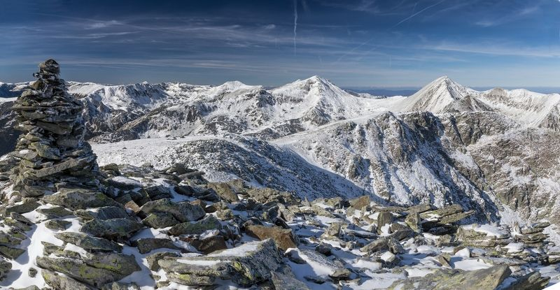 winter,snow,retezat mountains,peaks,sky Winter is comingphoto preview