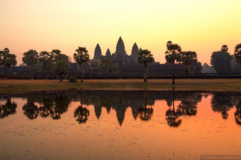 cambodia, angkorwat, angkor, khmer, asia, sunrise, morning, temple Angkor Watphoto preview