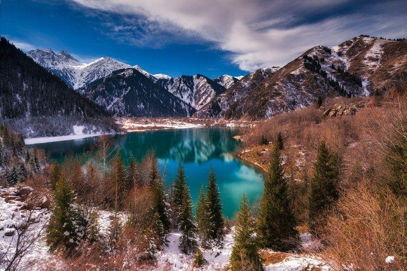 осень, озеро, иссык Озеро Иссыкphoto preview