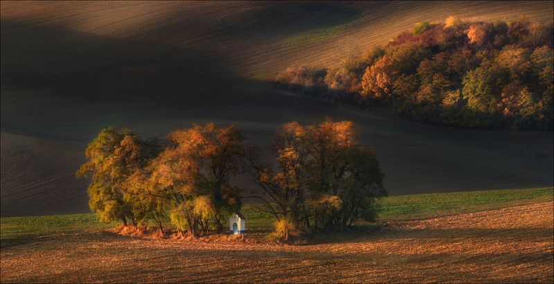 чехия, южная моравия, south moravian, осень, autumn, формы, линии, цвет,lines, forms, часовня,chapel, The Chapelphoto preview