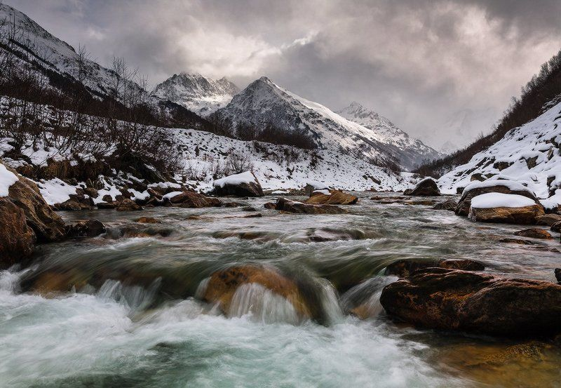 долина, клухора В горах ноябрь. Долина Клухораphoto preview