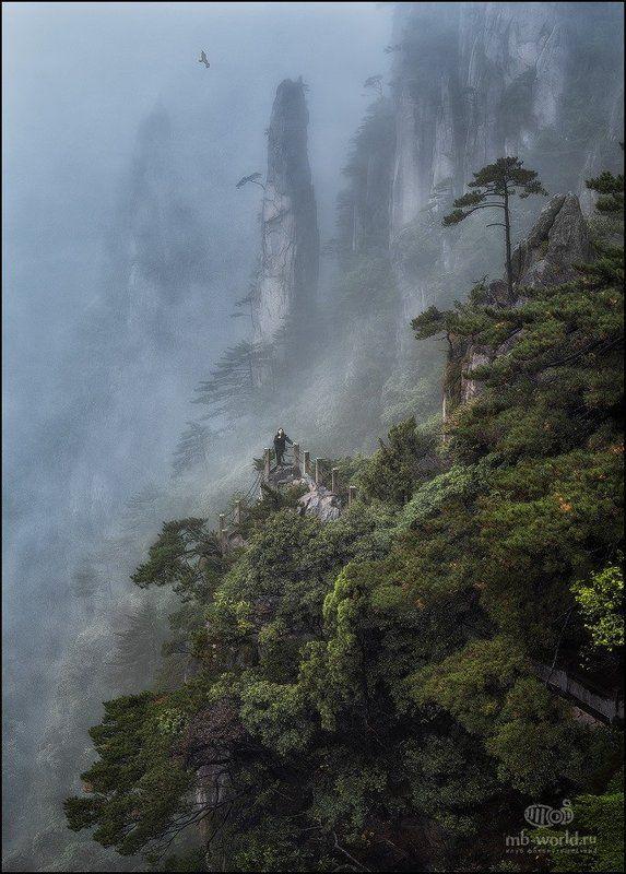 Китай, Хуаншань, горы, туман Затерянный мирphoto preview