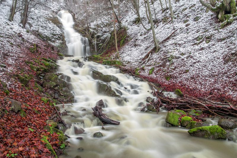 waterfall,winter,cold,trees,waterscapes Winter is comingphoto preview