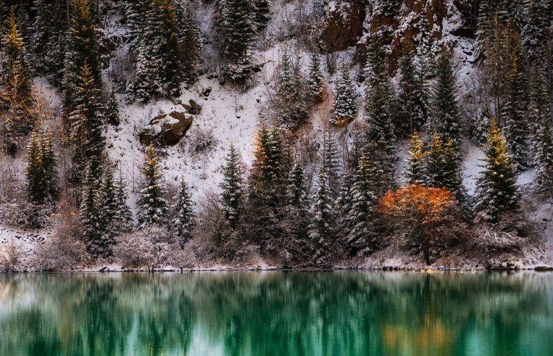осень, озеро, иссык Осеннее утроphoto preview