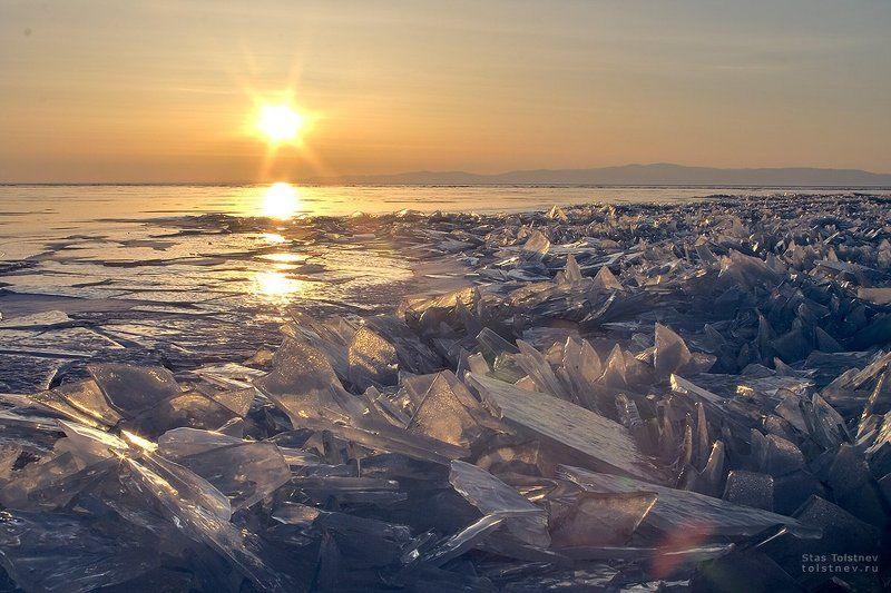 байкал, малое море, ольхон, лед, зима, Осколкиphoto preview