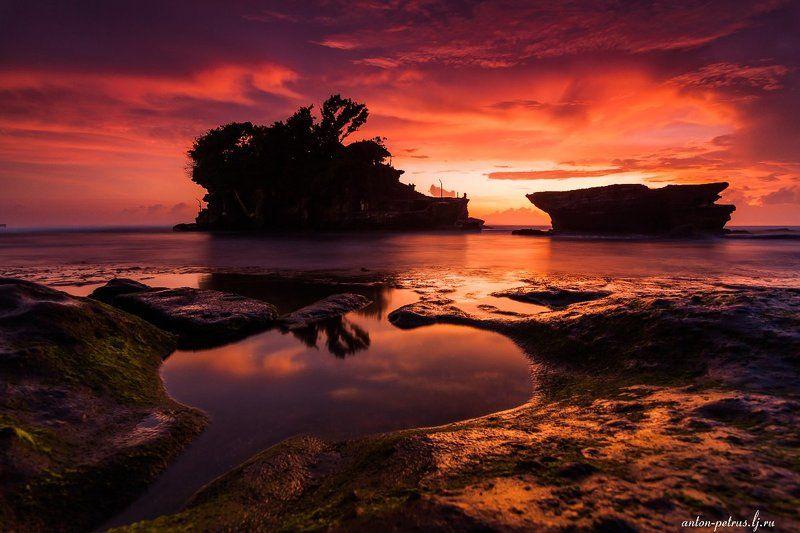 бали, закат, море, храм Магия тропических закатовphoto preview