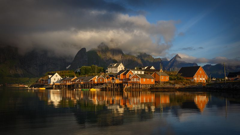 норвегия, лофотены, лофотенские острова, norway, lofoten, lofoten island, The fishing village.photo preview
