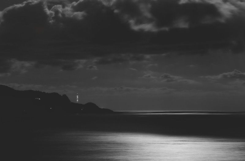 крым, сарыч, ласпи, батилиман, черное море, ночь, севастополь Ночное море. . . .photo preview