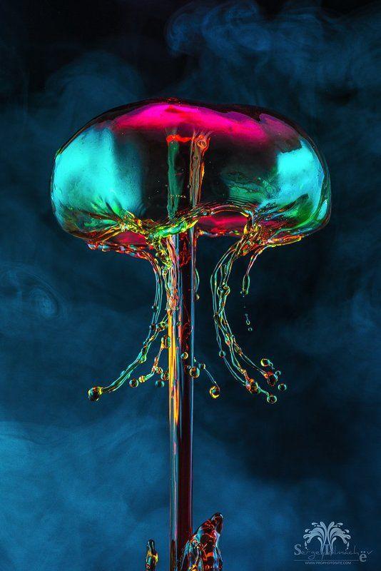 капли, жидкость, макро, арт, всплеск, сергейтолмачев В рубиновом светеphoto preview