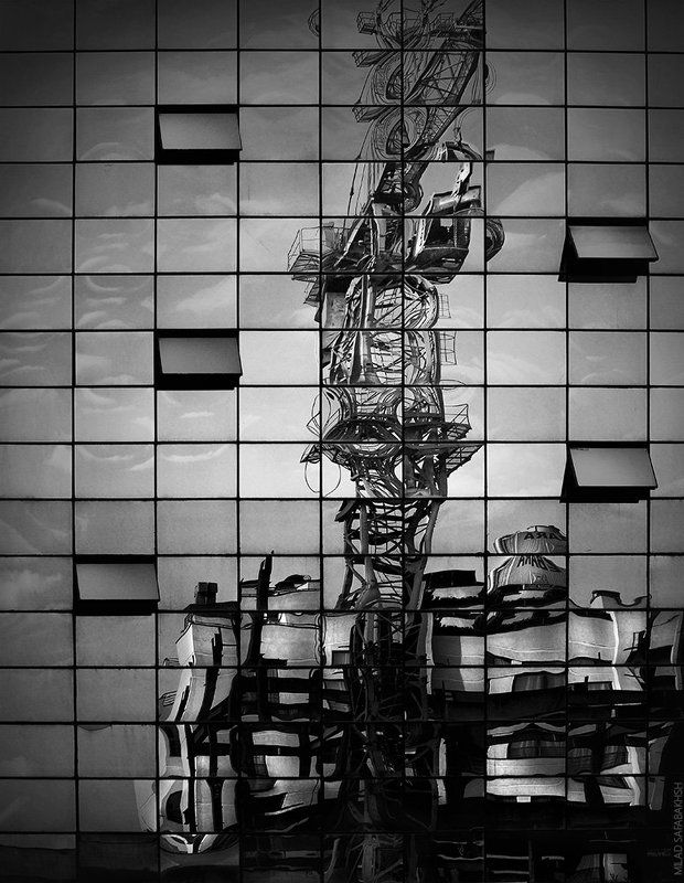 architecture, fineart , creative, bnw, minimal, Industrial reflection IIphoto preview