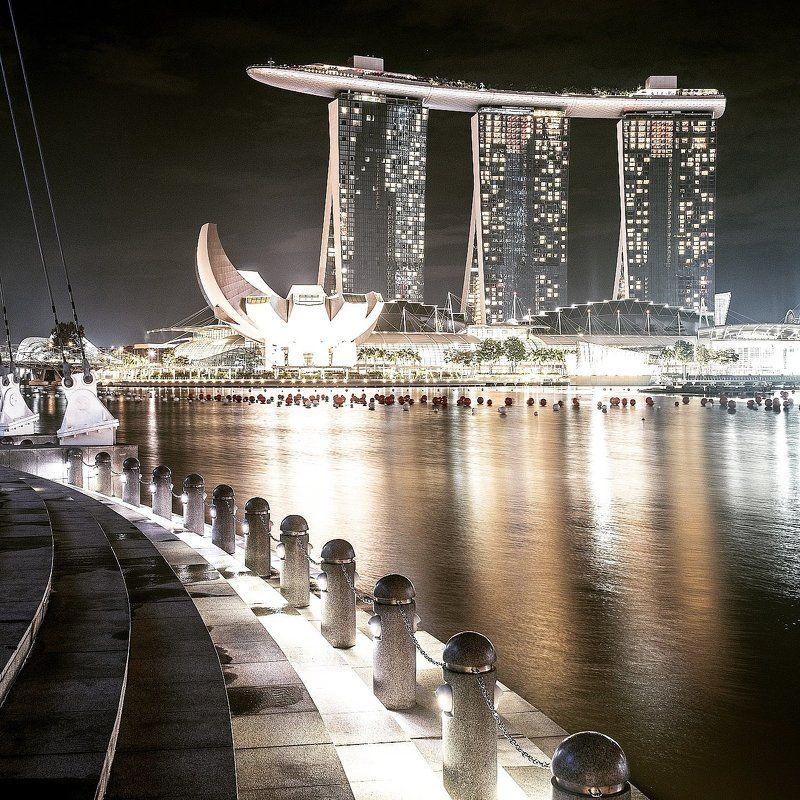 photooftheday, marinabaysands, marina, bay, port, seascape, landscape, architecture, skyscraper, artbuilding, building, lights, reflection, night, travel, trip, singapore 26-11-2014 Marina Bay Sands, Singaporephoto preview