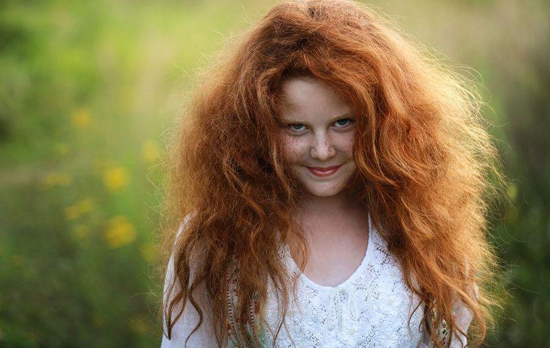 девушка, портрет, рыжие волосы. Маленькая фея. Настроение ..не очень.)photo preview