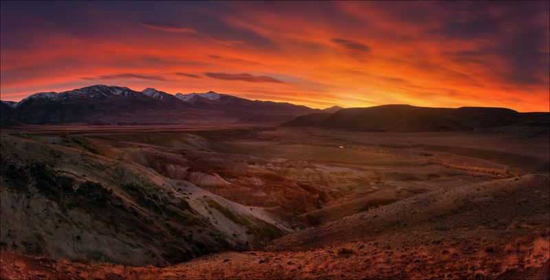алтай, осень, кызыл-чин, марс, рассвет, чаган-узун Планета Кызыл-Чин.photo preview