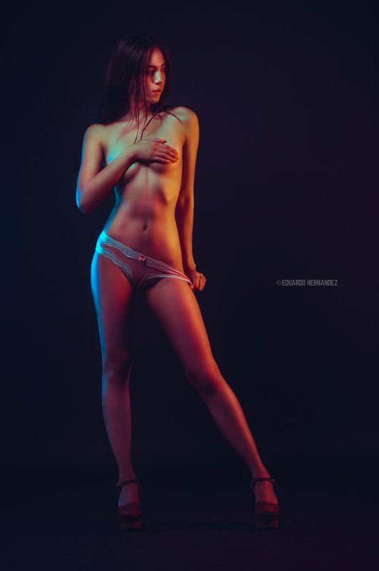 fine art, portrait, lingerie, Red Lights...photo preview