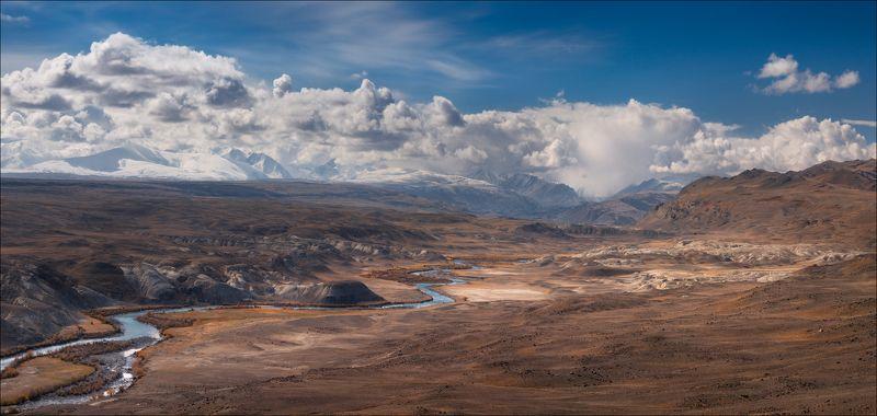 алтай, осень, кызыл-чин, чаган-узун, горы Горы..Небо..Облака ...photo preview
