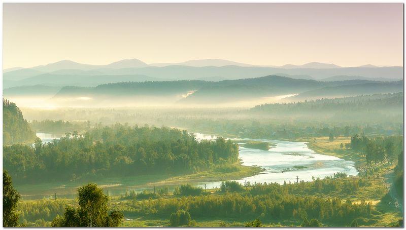 пейзаж, утро, восход, туман По утру! photo preview