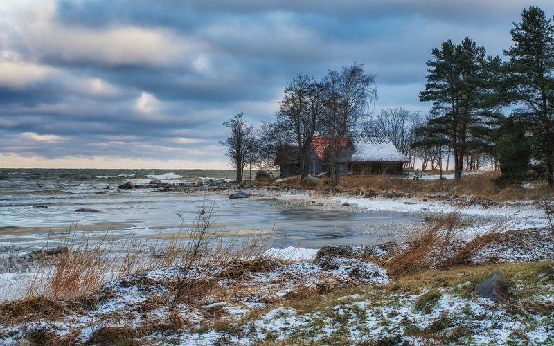 балтика, балтийское, море, море, зима, эстония, финский, залив, деревня, ветер, мороз Зима на Балтикеphoto preview