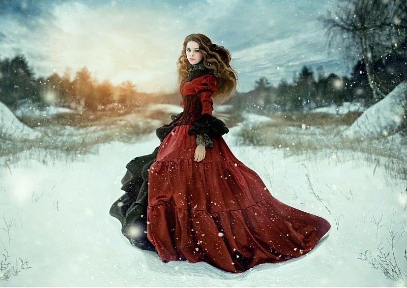 девушка, портрет, рыжие волосы. Crimson peak.photo preview