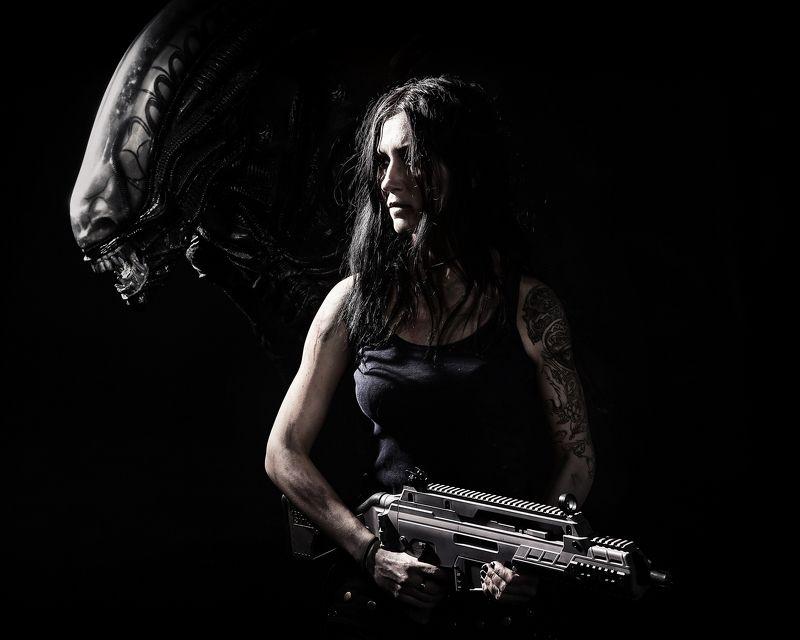 alien, чужой, девушка, girl, gun Чужой (Alien)photo preview
