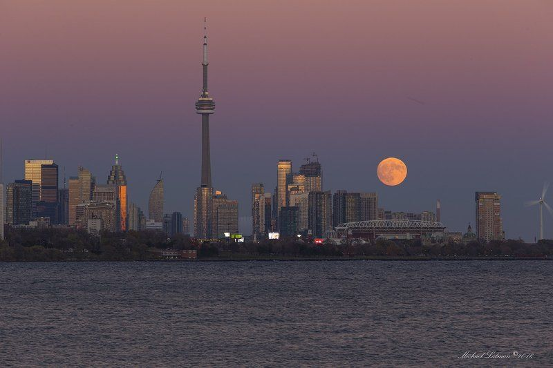 toronto, fall, city, supermoon,evenung, sunset,lake,dusck Wondrous ascentphoto preview