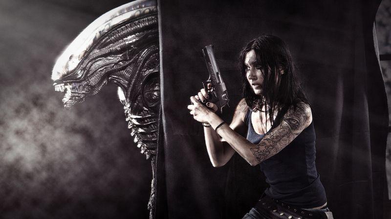 чужой alien aliens чужие girl gun woman девушка Чужойphoto preview