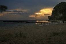 Закат на море.