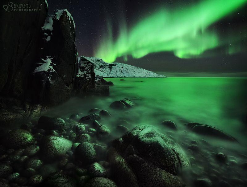 териберка, путешествия по россиии, мастер-класс, северное сияние, аврора Северный берегphoto preview