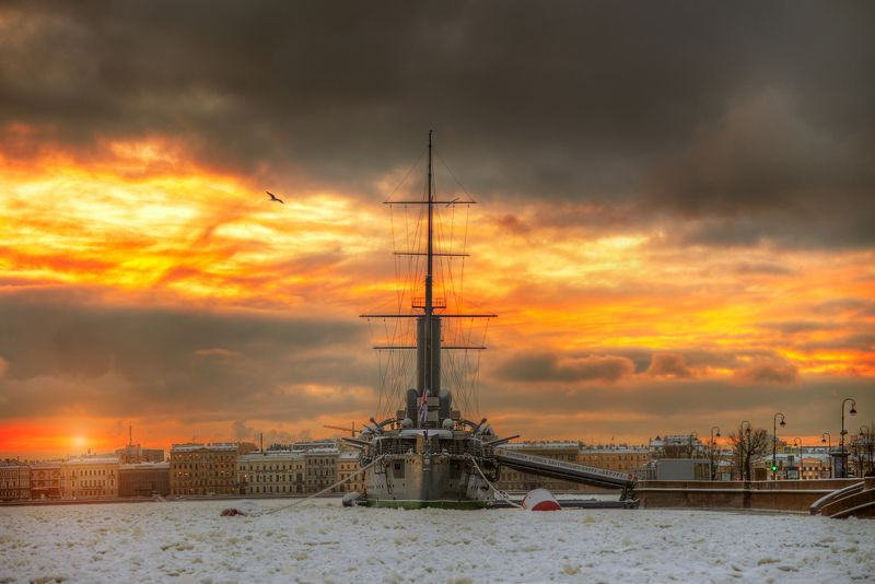 Декабрь, Нева, Санкт-петербург \