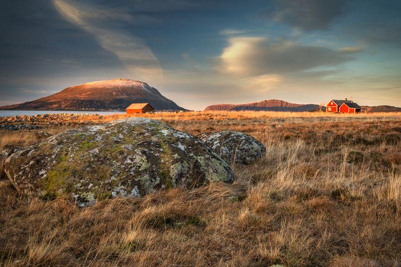 landscape,sunset,norway,mountains,house,природа,закат,норвегия Закат ха Гамлемеphoto preview