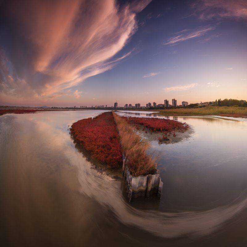 Landscape, Nature, Bulgaria, Beautiful, Incredible, Sunset, Colors, Drama The magic of Atanasovsko lakephoto preview