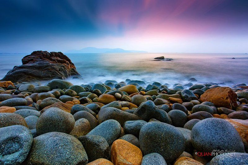 #quanphoto,#landscape,#seascape,#longexposure,#sea,#rocks,#sunrise,#dawn,#skyline,#vietnam Symphony of the Seaphoto preview