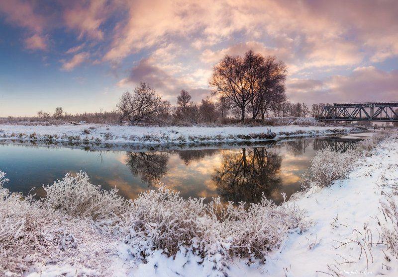 зима, рассвет, снег, лес Мгновения зимыphoto preview