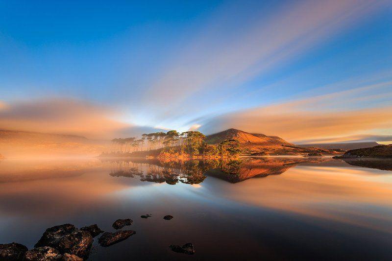 Connemara, Ireland, Galway, longexposure, long exposure, lee, sunrise, sunset, fog, clouds, hitech Derryclare Lough Connemara photo preview