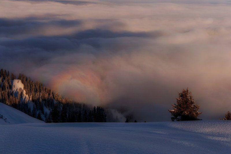 горы, зима, туман, облака Горные сныphoto preview