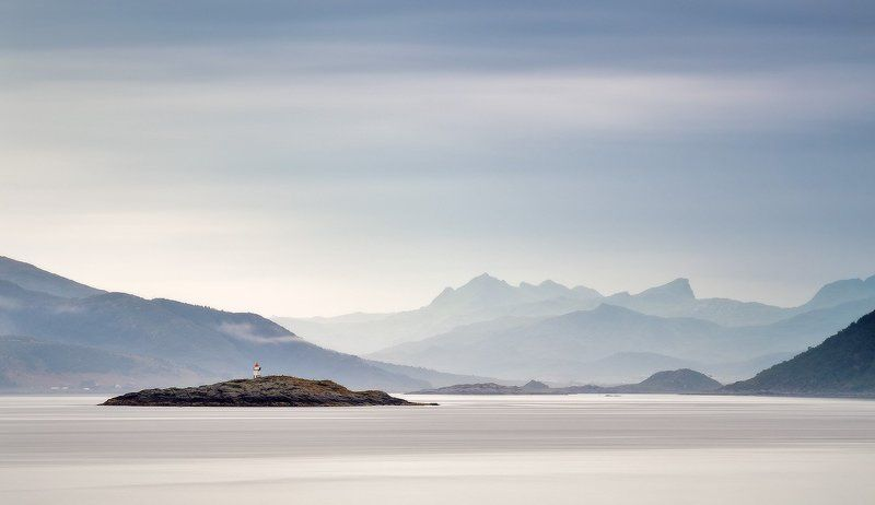 Европа, Лето, Лофотены, Норвегия, Море, Океан Норвегия. Маякphoto preview