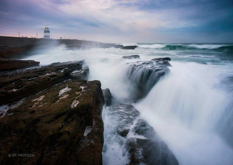 ireland. hook head, lighthouse, blue, ocean, waves, wexford, landscape, stormy, Hook Head Lighthousephoto preview